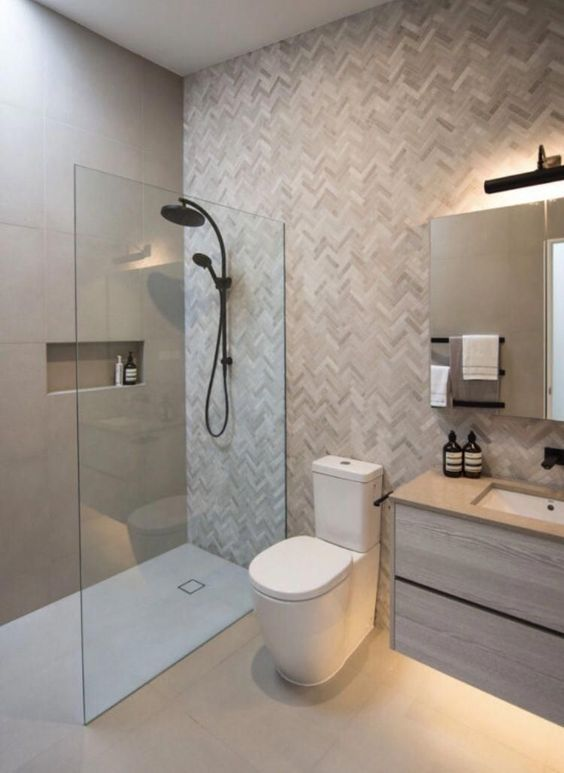 lighter color tiles in small toilets